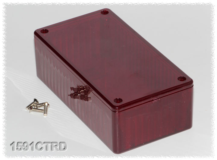 1591CTRD - 1591T Series Multipurpose Translucent Polycarbonate Enclosures with Card Guides