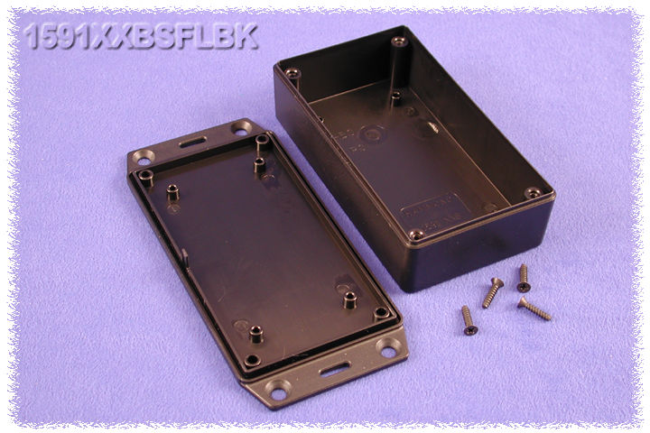 1591XXBSFLBK - 1591XX Series ABS Plastic Mult-Purpose Enclosures with Mounting Flanges