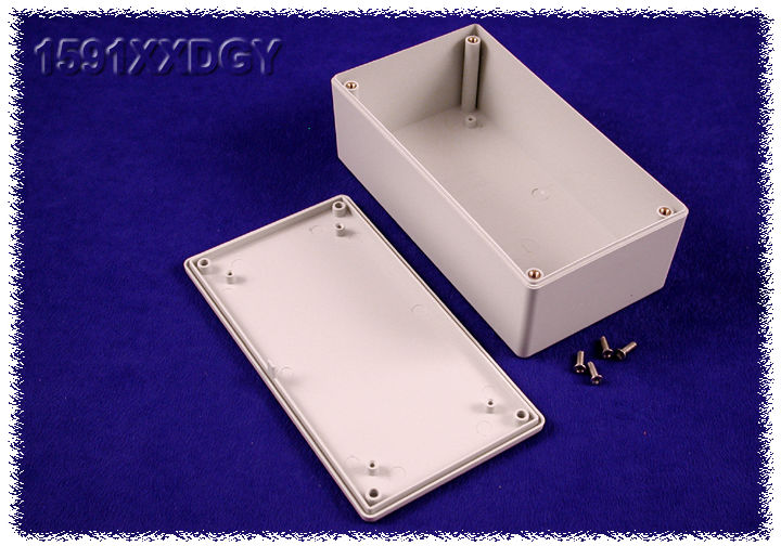 1591XXDGY - 1591XX Series ABS Plastic Mult-Purpose Enclosures with PC Board Standoffs