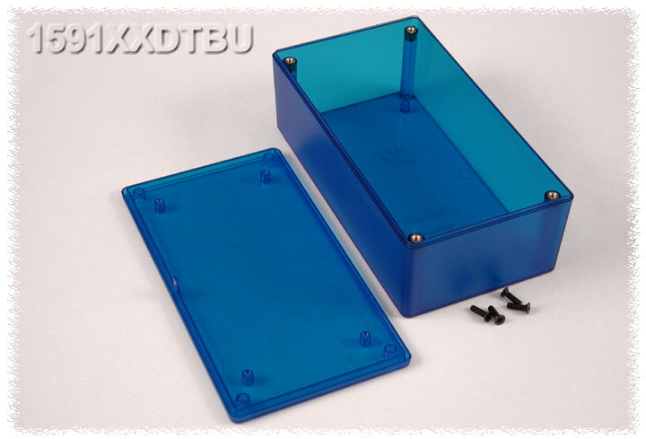 1591XXDTBU - 1591XX Series ABS Plastic Mult-Purpose Enclosures with PC Board Standoffs