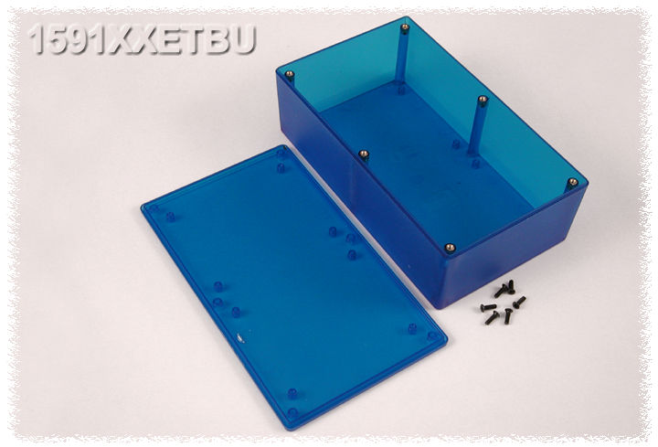 1591XXETBU - 1591XX Series ABS Plastic Mult-Purpose Enclosures with PC Board Standoffs