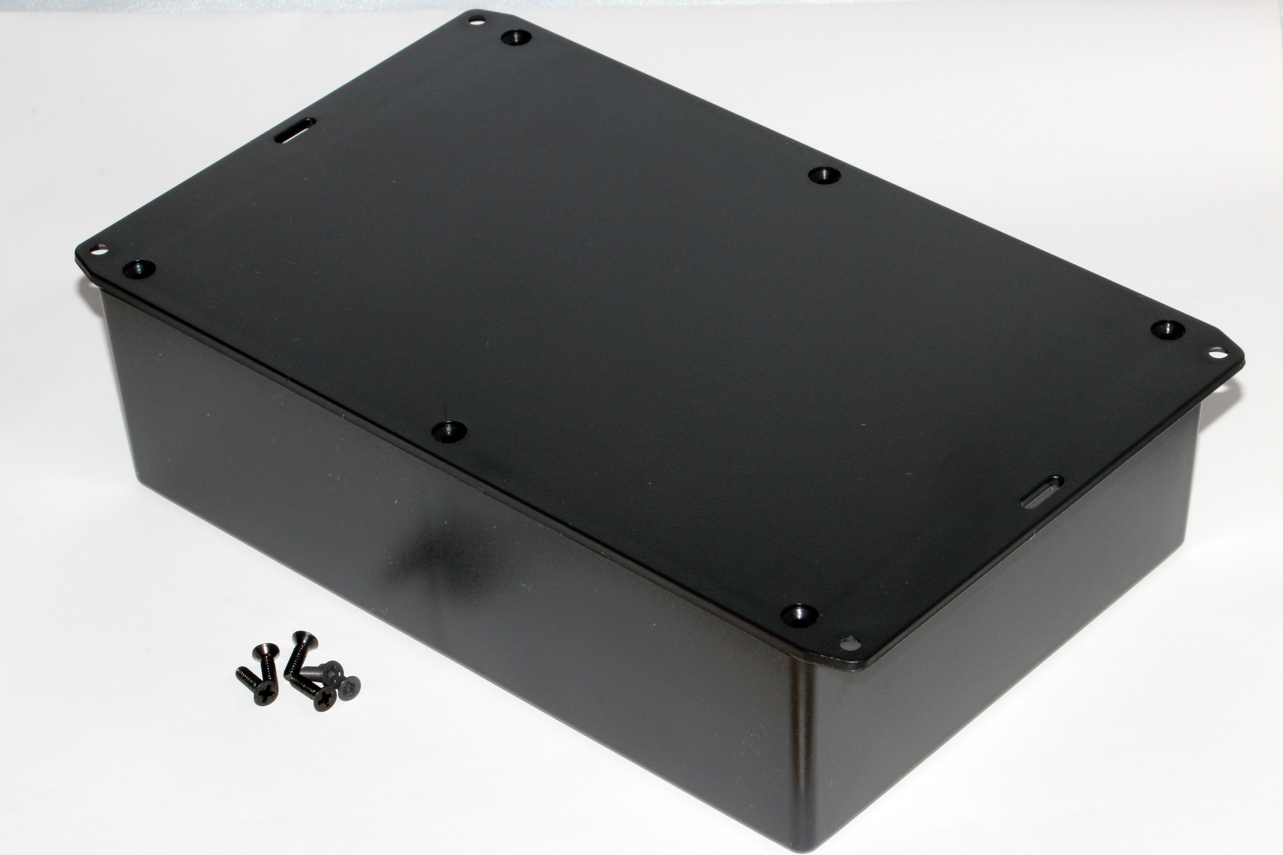 1591XXFFLBK - 1591XX Series ABS Plastic Mult-Purpose Enclosures with Mounting Flanges