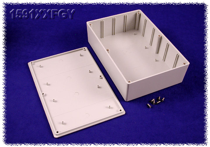 1591XXFGY - 1591XX Series ABS Plastic Mult-Purpose Enclosures with PC Board Standoffs