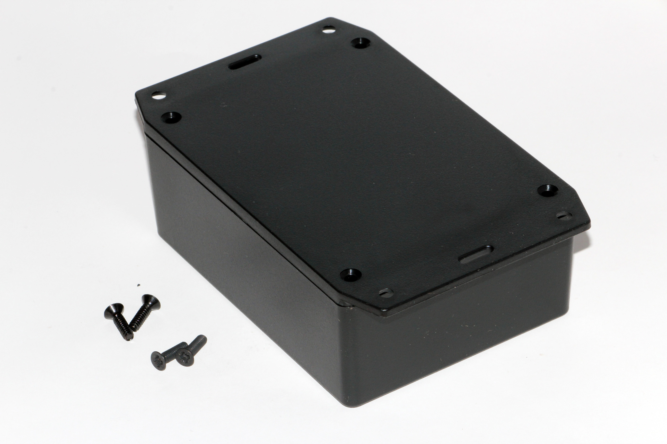 1591XXSFLBK - 1591XX Series ABS Plastic Mult-Purpose Enclosures with Mounting Flanges