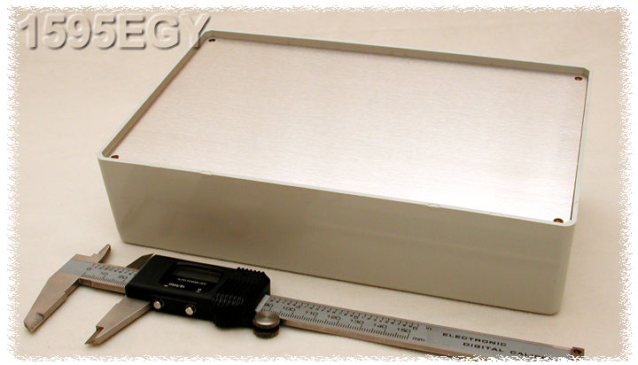 1595EGY - 1595 Series ABS Plastic Console Enclosures with Aluminium Cover Plate