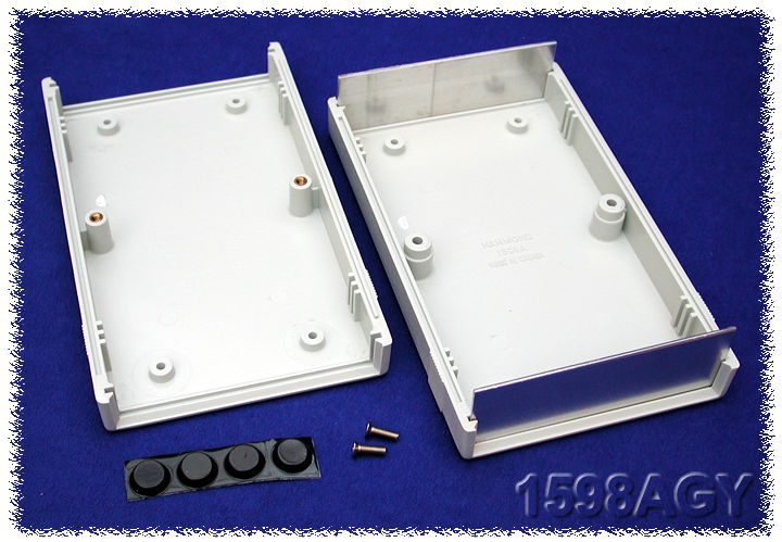 1598AGY - 1598 Series ABS Plastic Instrument Enclosures with Clam Shell Body and End Panels