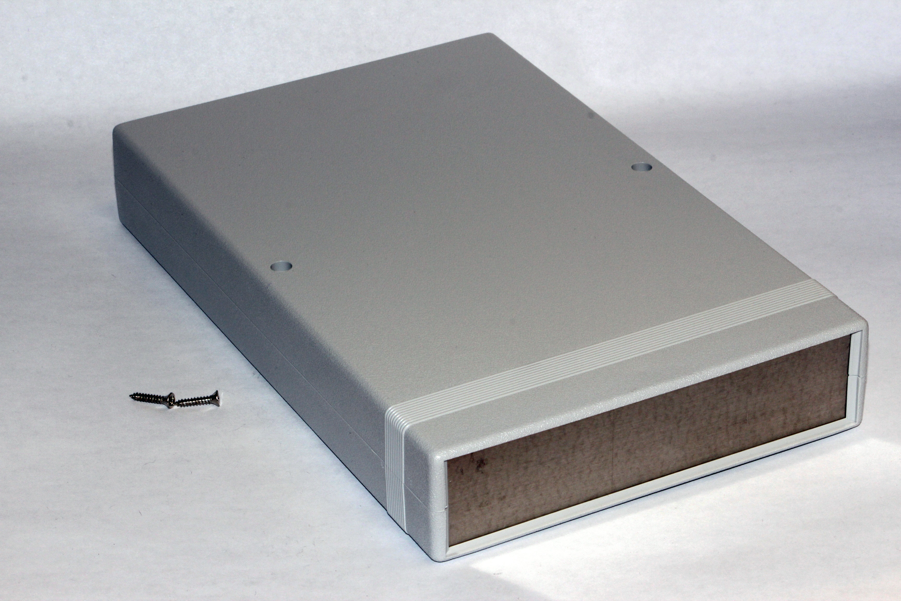 1598FSGY - 1598 Series ABS Plastic Instrument Enclosures with Clam Shell Body and End Panels