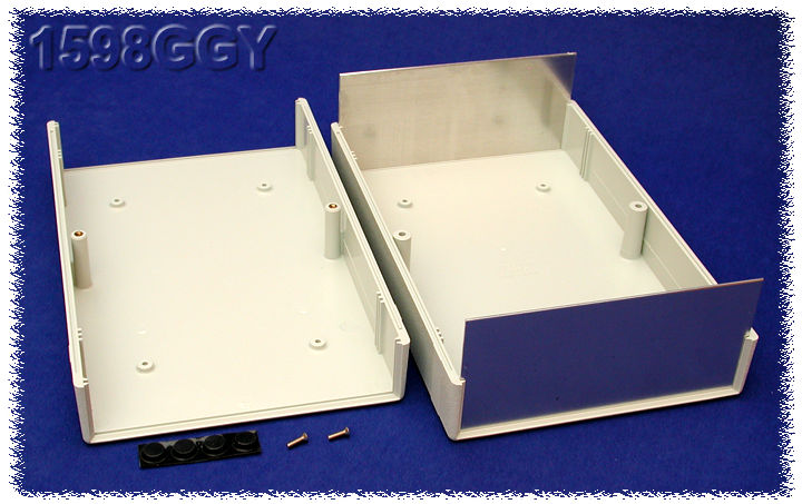 1598GGY - 1598 Series ABS Plastic Instrument Enclosures with Clam Shell Body and End Panels
