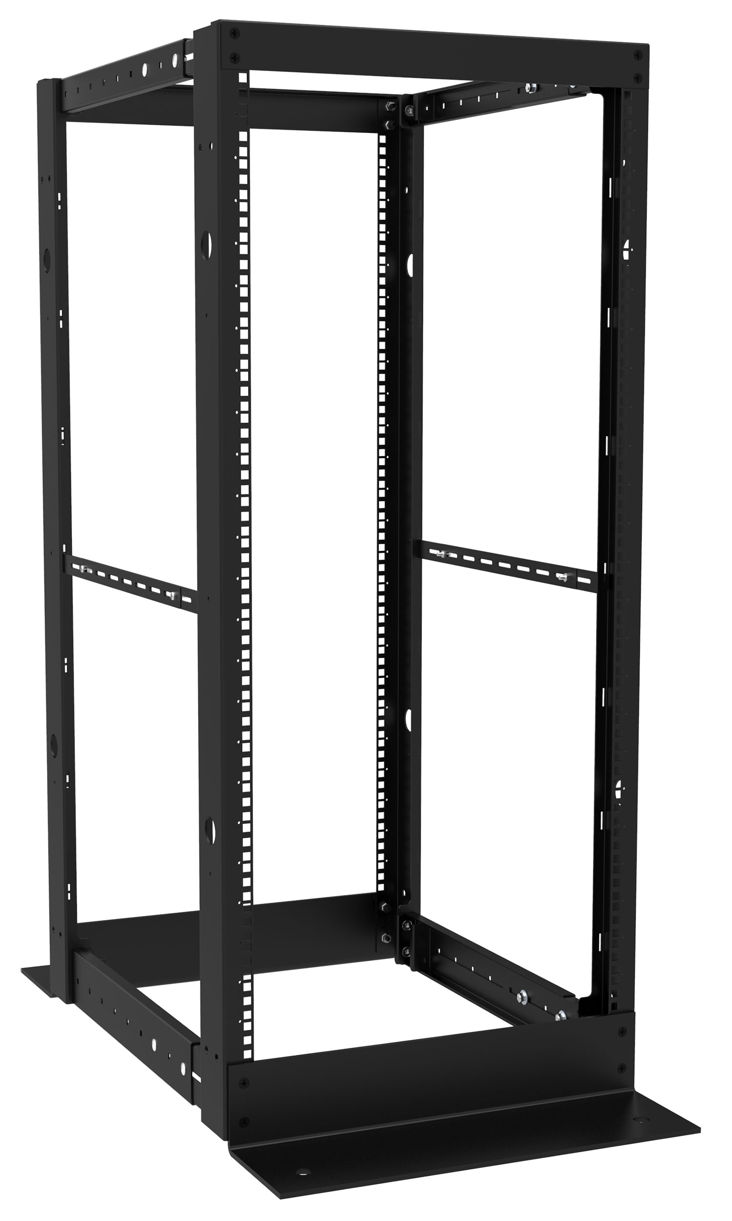 knockdown steel 4 post rack dc4r series hammond mfg 89596