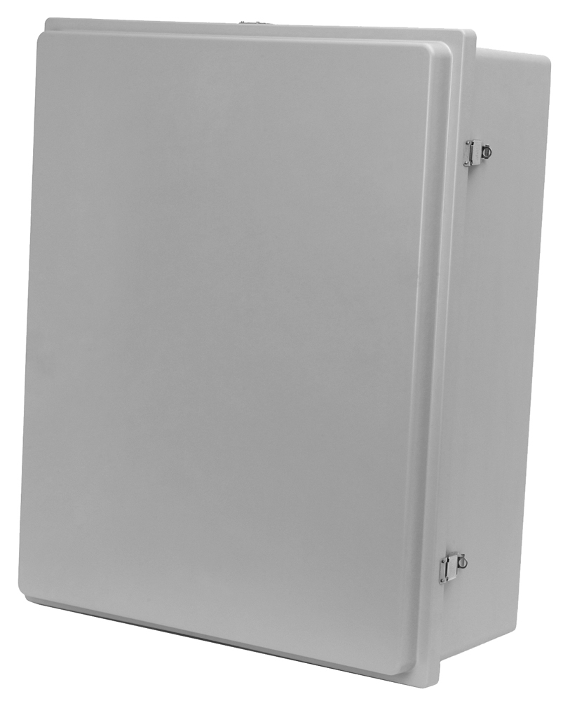Metal Box Hinged Lid Electrical Nema Enclosure Steel Outdoor Junction Cover Gray
