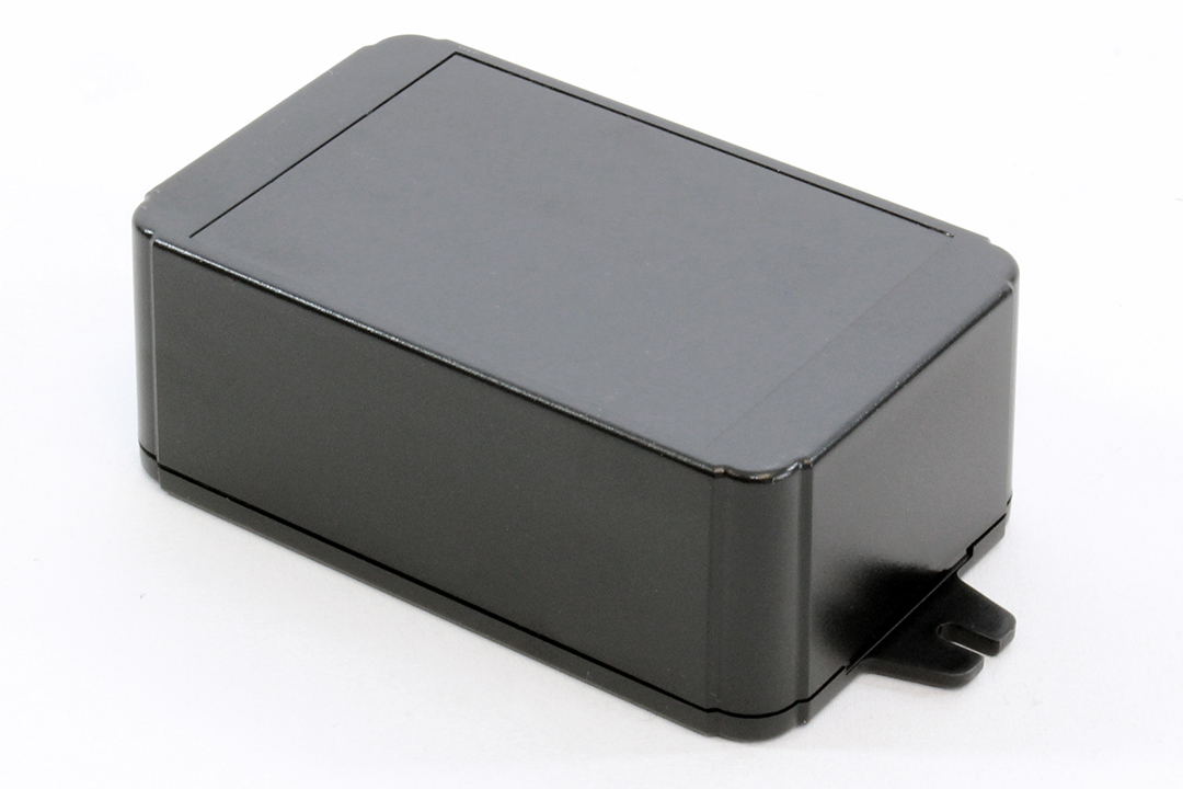 RL6175-FBK - RL Series ABS Plastic Product Enclosures with Shallow Lid and Wall Mounting Flanges
