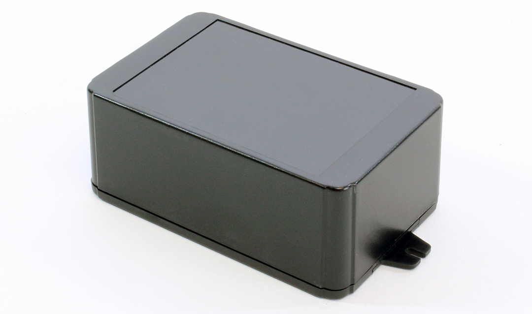 RL6225-FBK - RL Series ABS Plastic Product Enclosures with Shallow Lid and Wall Mounting Flanges