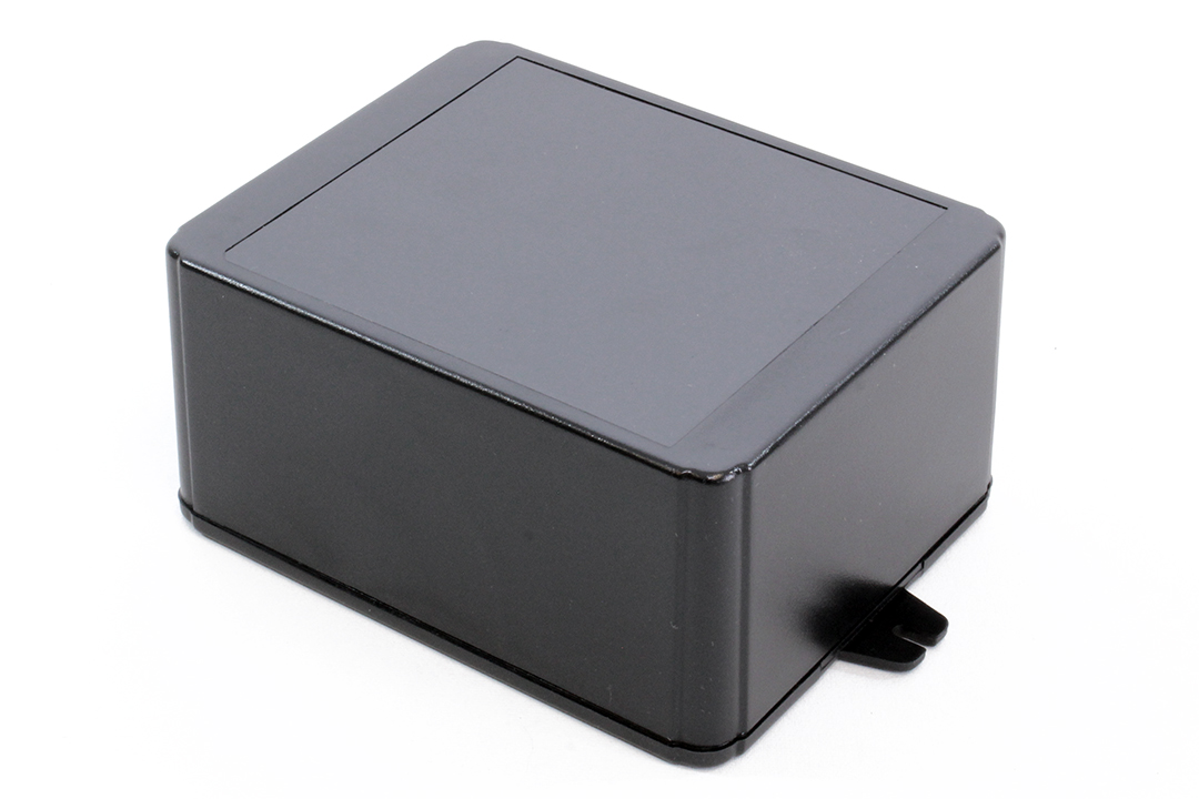 RL6335-FBK - RL Series ABS Plastic Product Enclosures with Shallow Lid and Wall Mounting Flanges