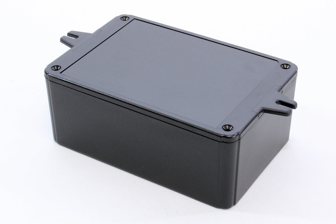 RL6435-FBK - RL Series ABS Plastic Product Enclosures with Shallow Lid and Wall Mounting Flanges
