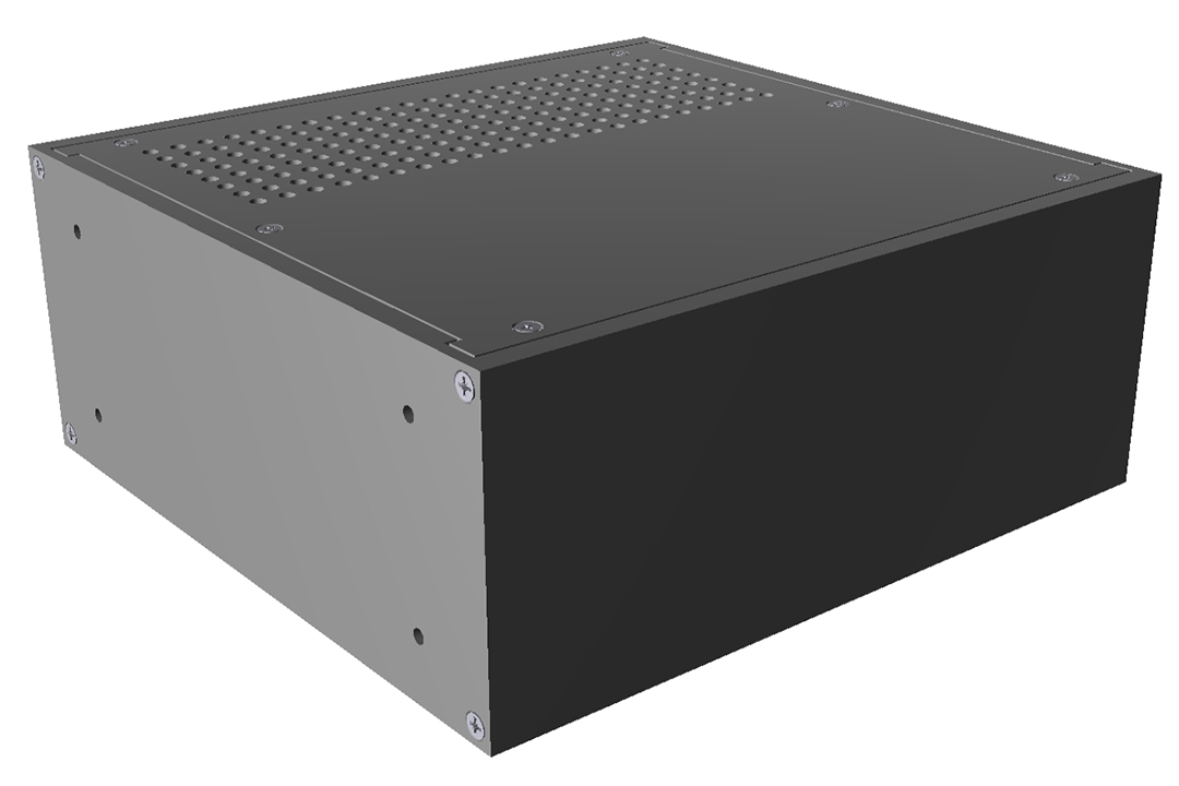 RM2U0808VBK - RM Series Rack-Mounted Instrument Enclosure with Vented Top/Bottom