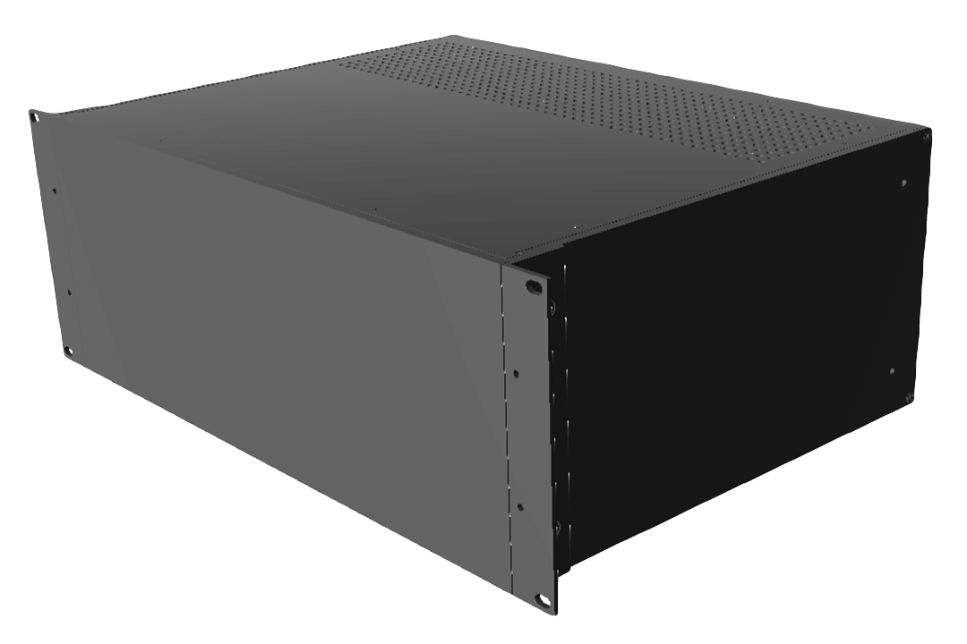 RM4U1913VBK - RM Series Rack-Mounted Instrument Enclosure with Vented Top/Bottom