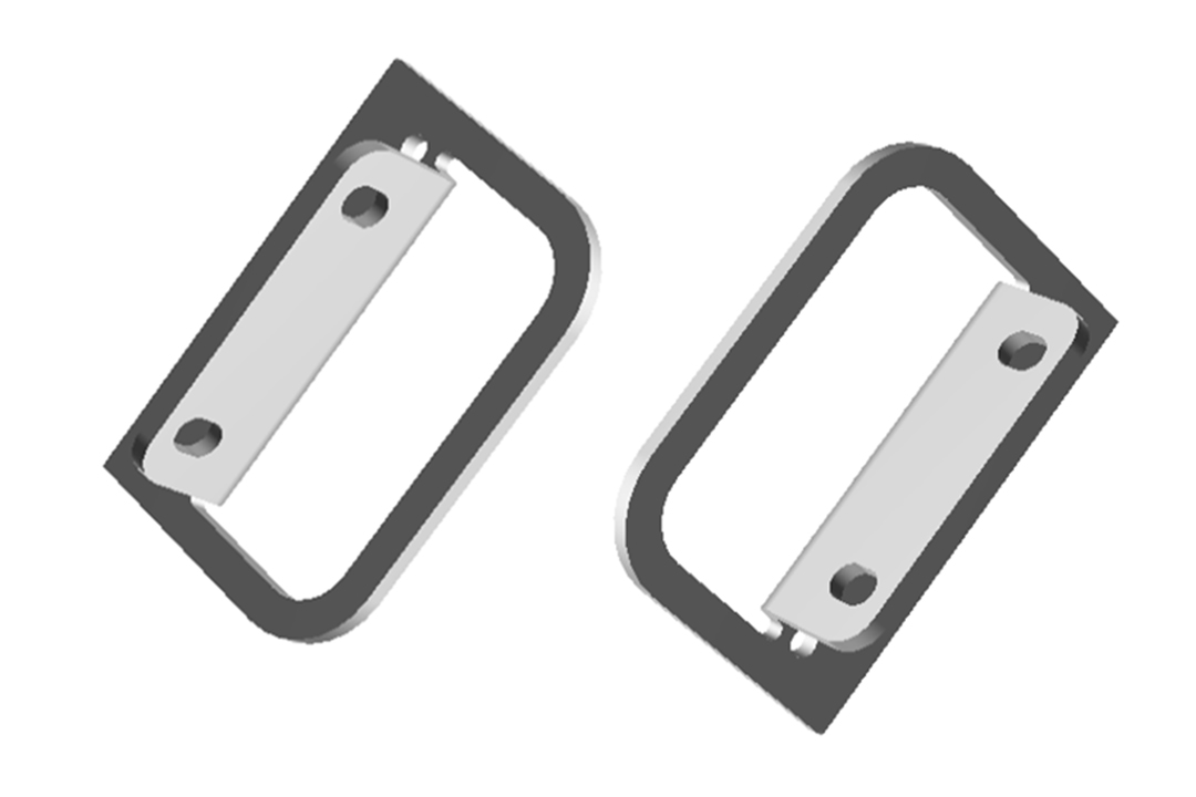 RMCFLANGE2U - RM Series Enclosures Rack Mounting Flanges