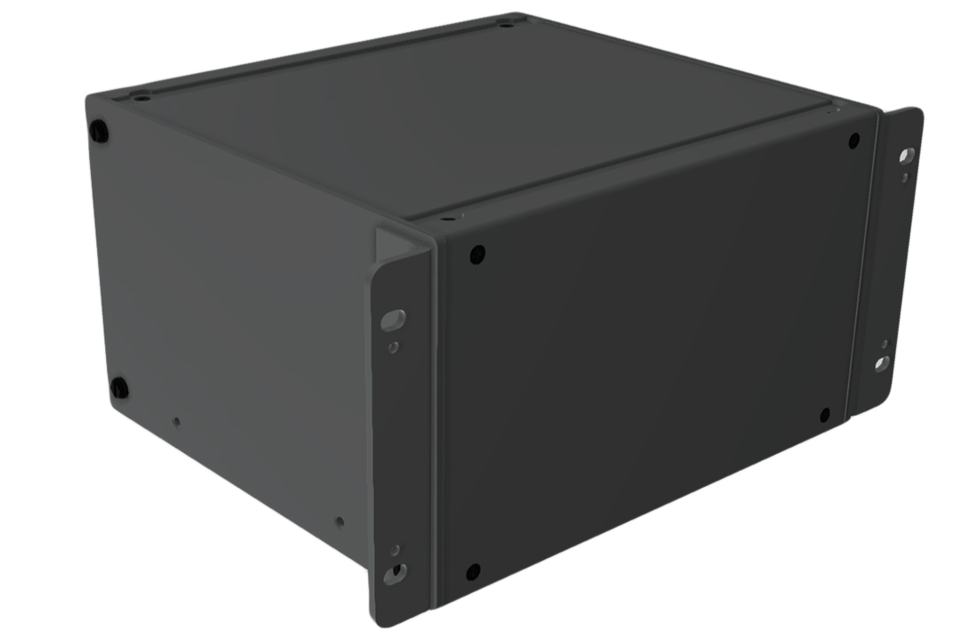 RMCS9058BK1 - RMC Series Rack-Mounting Instrument Enclosure with Solid Top/Bottom