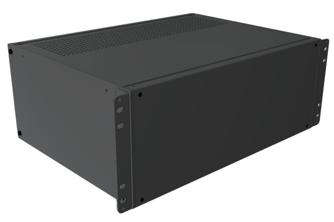 RMCV190713BK1 - RMC Series Rack-Mounting Instrument Enclosure with Vented Top/Bottom