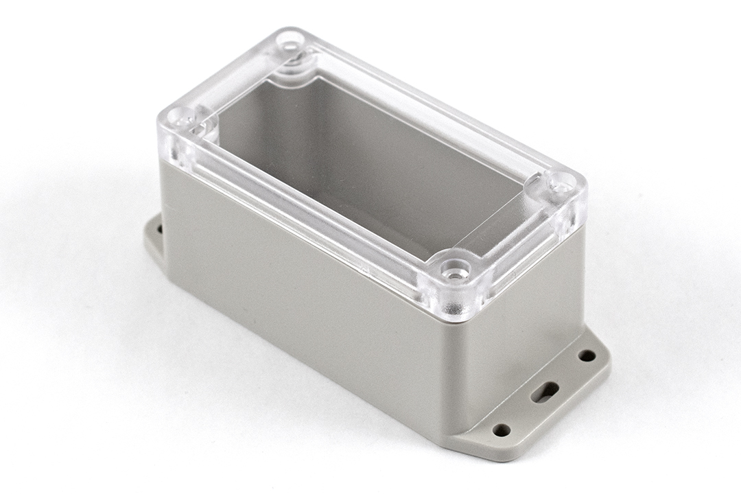 RP1045BFC - RP Series Water-Tight ABS Plastic Enclosures with Clear Lid and Bottom Flange