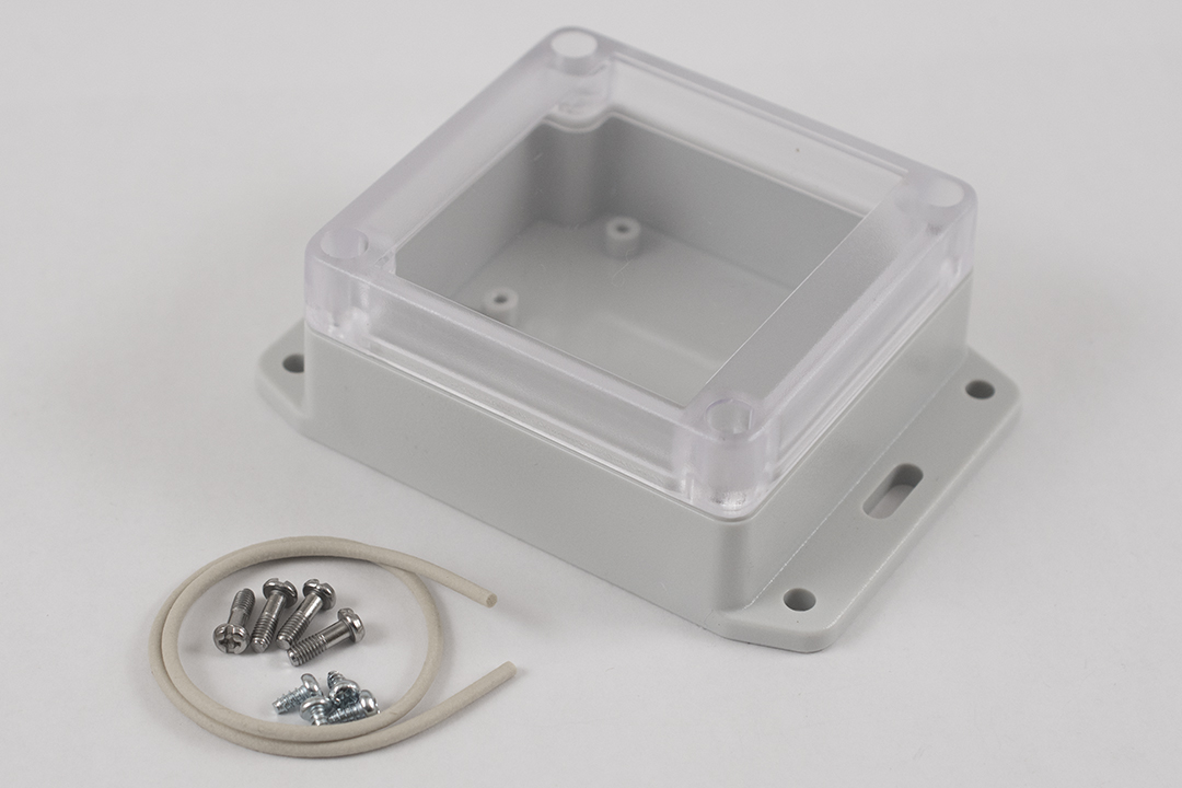 RP1050BFC - RP Series Water-Tight Polycarbonate Enclosures with Clear Lid and Bottom Flange