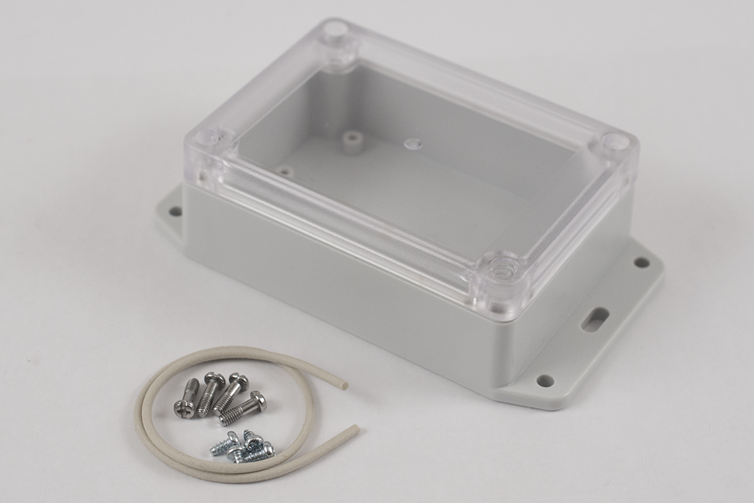 RP1080BFC - RP Series Water-Tight Polycarbonate Enclosures with Clear Lid and Bottom Flange