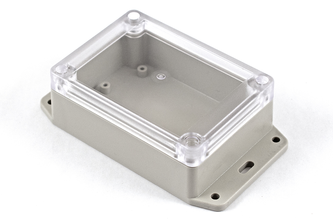 RP1085BFC - RP Series Water-Tight ABS Plastic Enclosures with Clear Lid and Bottom Flange