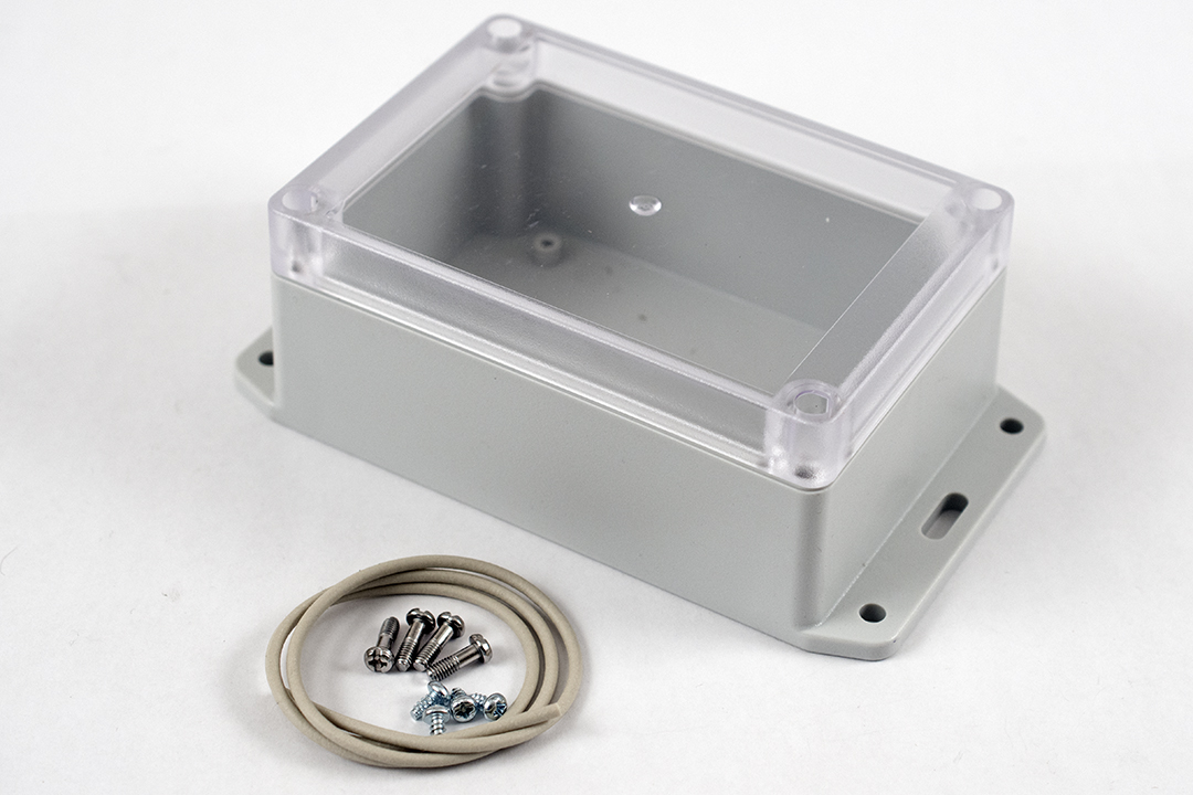 RP1130BFC - RP Series Water-Tight Polycarbonate Enclosures with Clear Lid and Bottom Flange