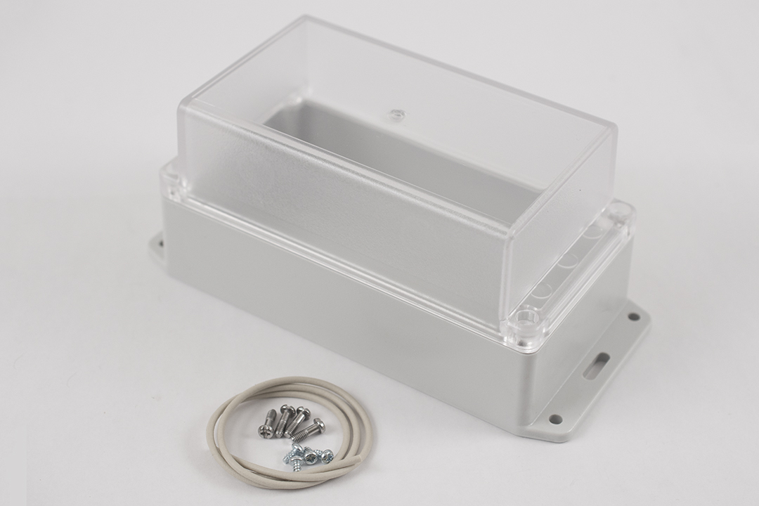 RP1180BFC - RP Series Water-Tight Polycarbonate Enclosures with Clear Lid and Bottom Flange