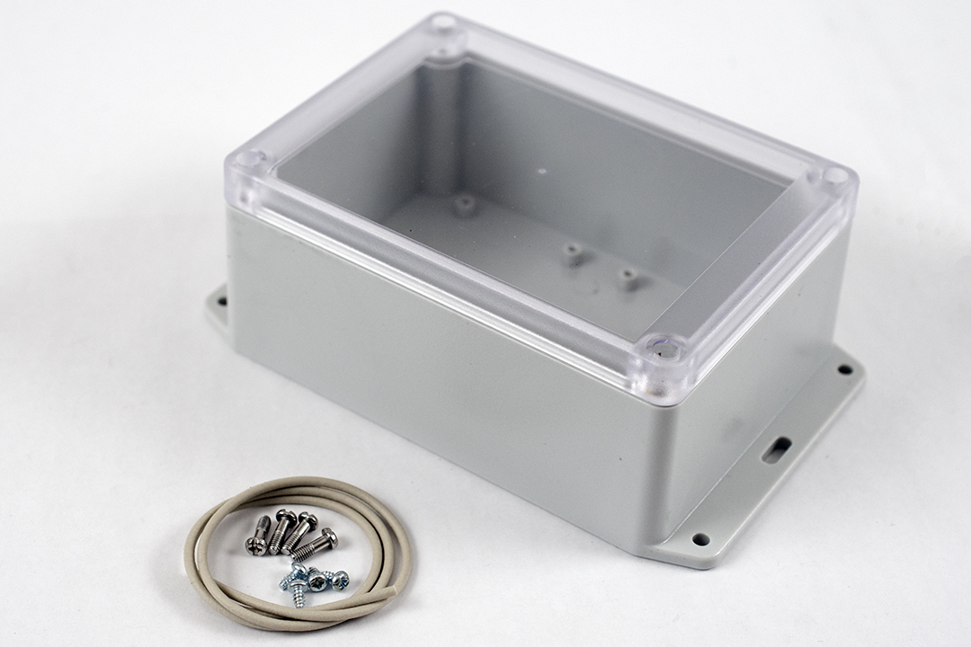 RP1210BFC - RP Series Water-Tight Polycarbonate Enclosures with Clear Lid and Bottom Flange