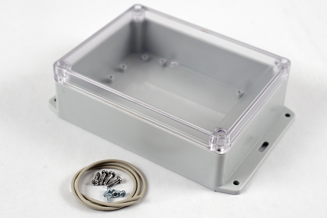 RP1230BFC - RP Series Water-Tight Polycarbonate Enclosures with Clear Lid and Bottom Flange