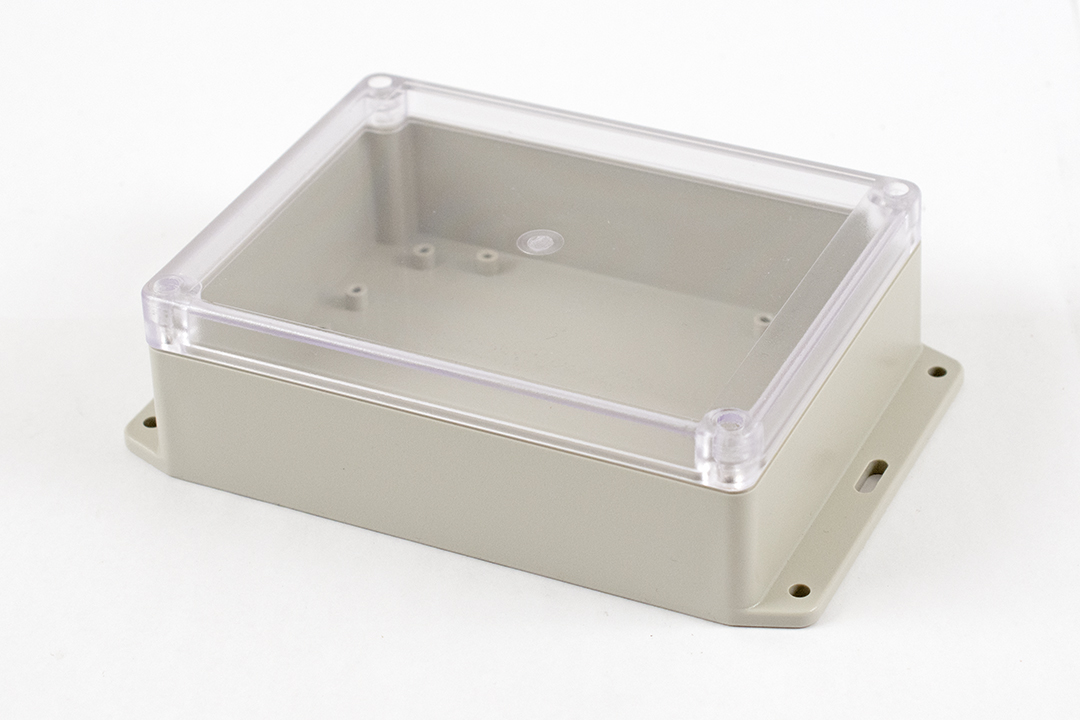 RP1235BFC - RP Series Water-Tight ABS Plastic Enclosures with Clear Lid and Bottom Flange