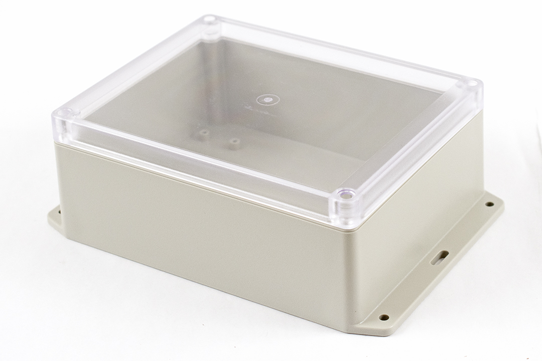 RP1285BFC - RP Series Water-Tight ABS Plastic Enclosures with Clear Lid and Bottom Flange