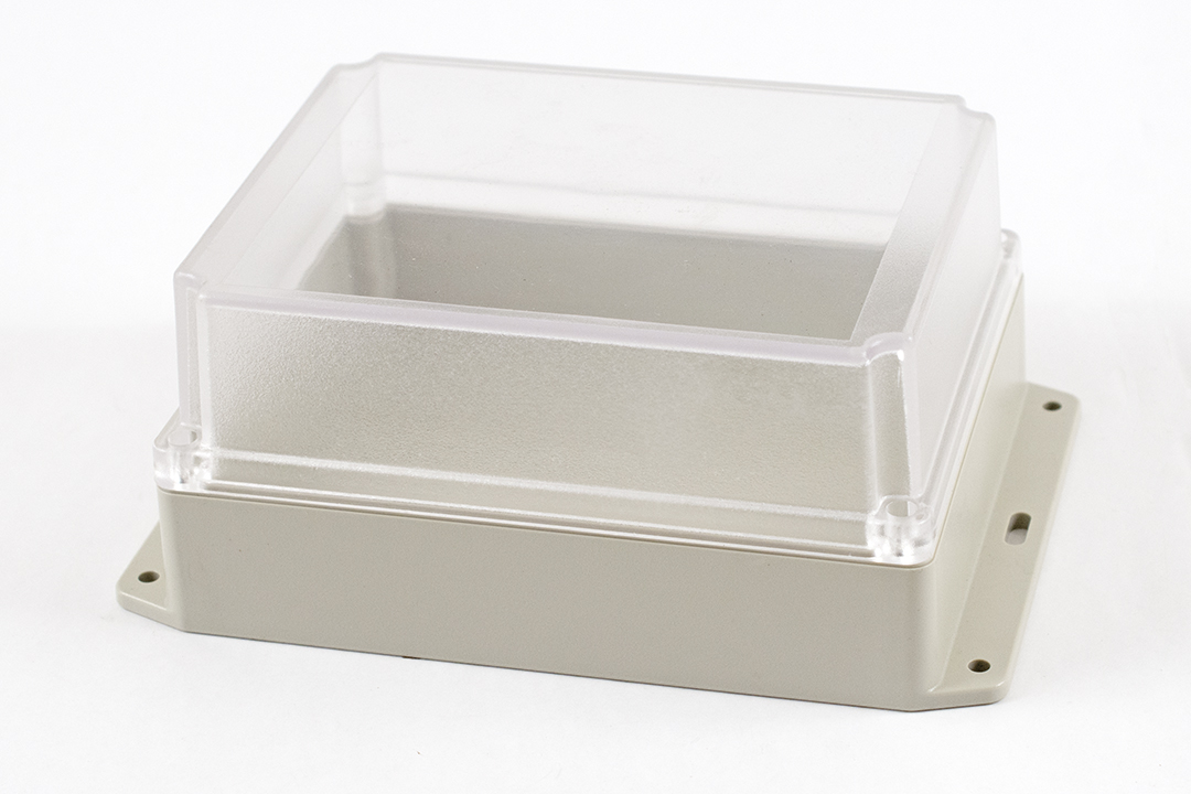 RP1375BFC - RP Series Water-Tight ABS Plastic Enclosures with Clear Lid and Bottom Flange