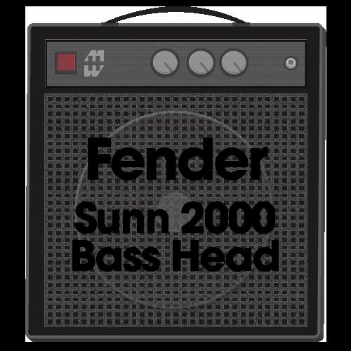 Fender Sunn 2000 Bass Head (Guitar Amp Replacement